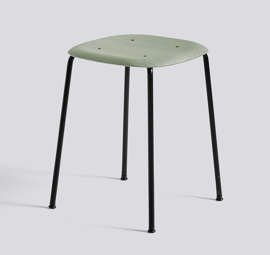 HAY Hocker Soft Edge 70 black dusty green