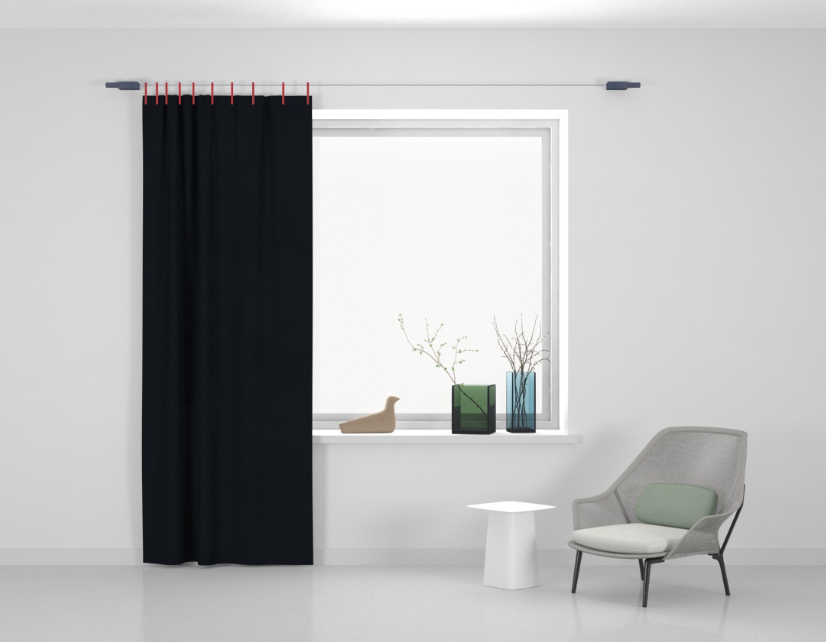 Kvadrat Ready made curtain Stoff Frozen 710