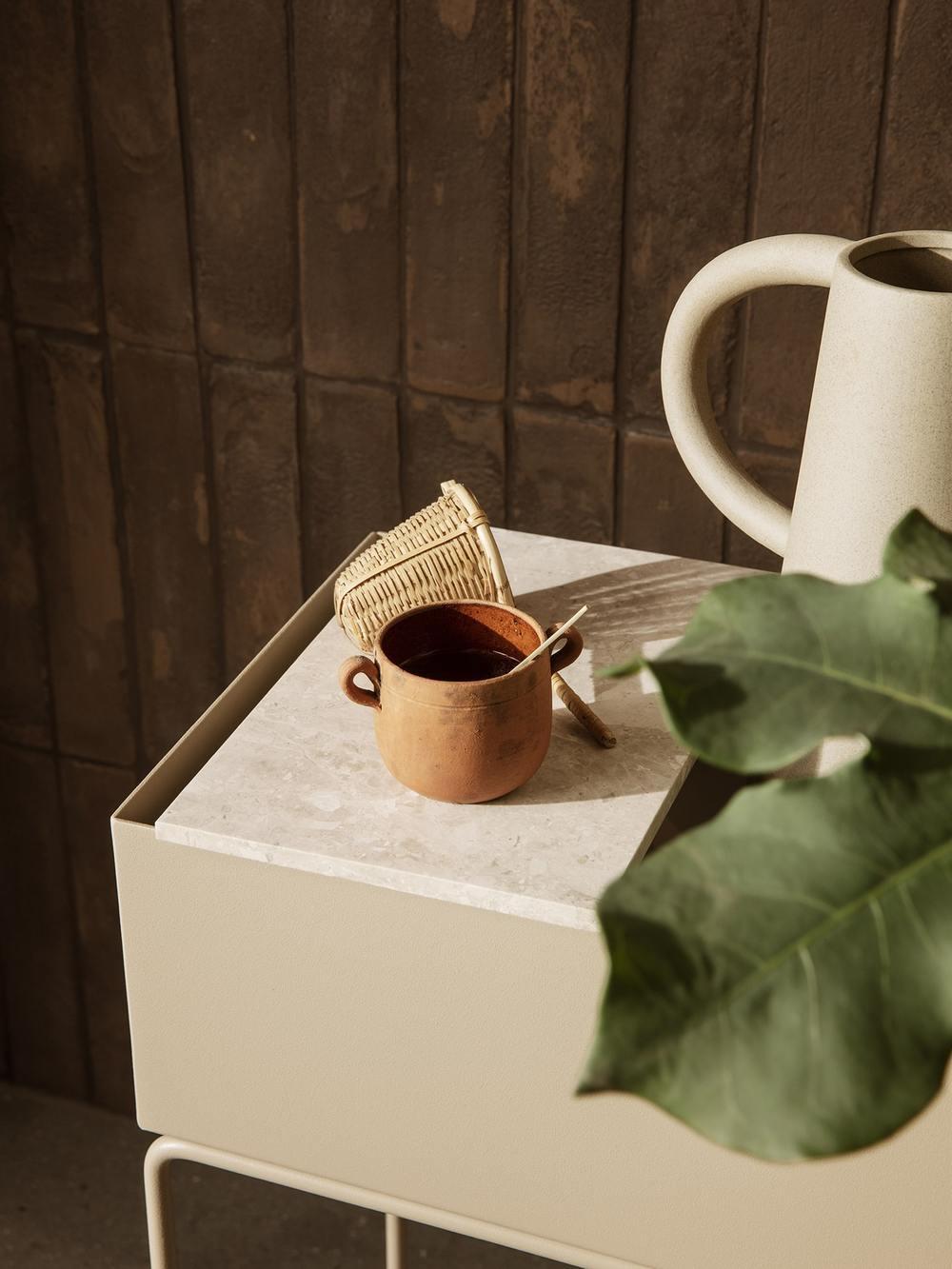 ferm living Plant Box Tray Marble