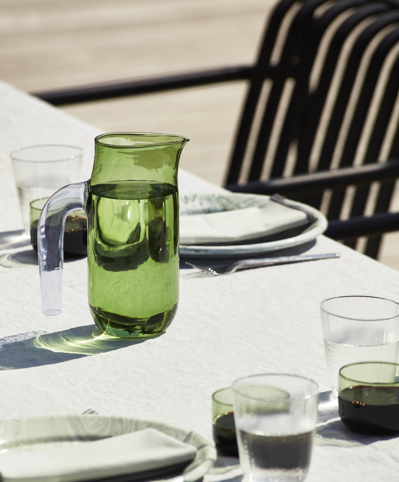 HAY Glaskrug JUG L grün