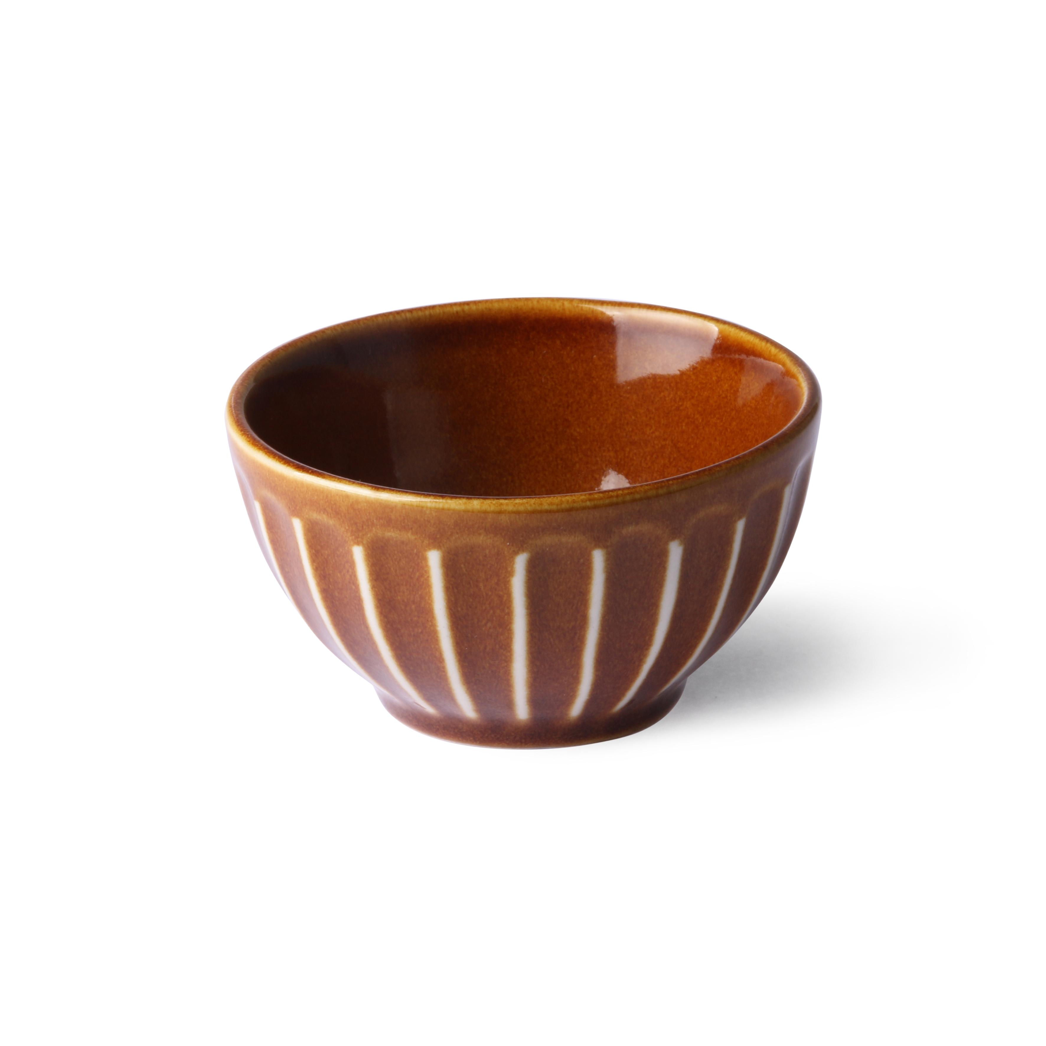 HK Living Kyoto Ceramics Schale striped