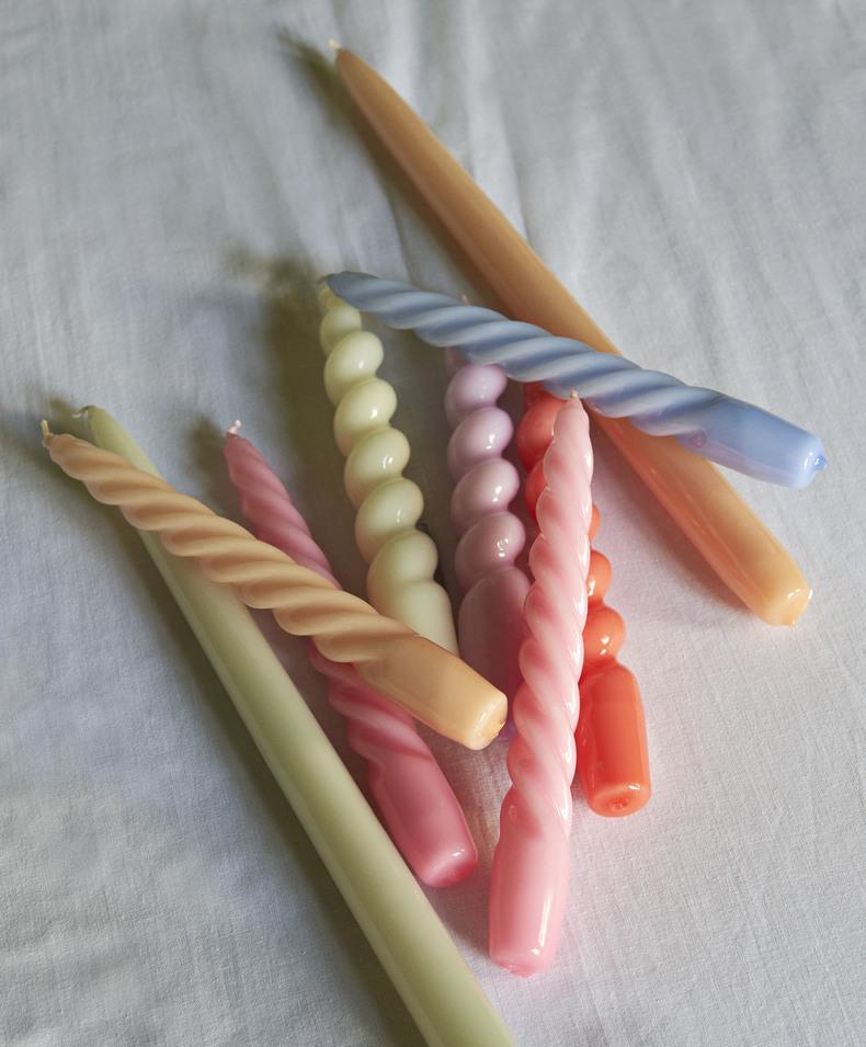 HAY 6 Kerzen Twist caramel, peach, lavender