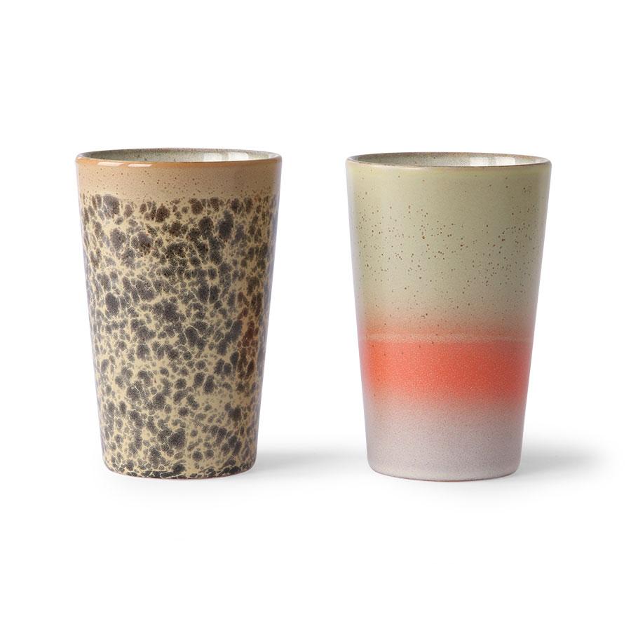 HK Living Ceramic 70´s Tee Becher 2er Set