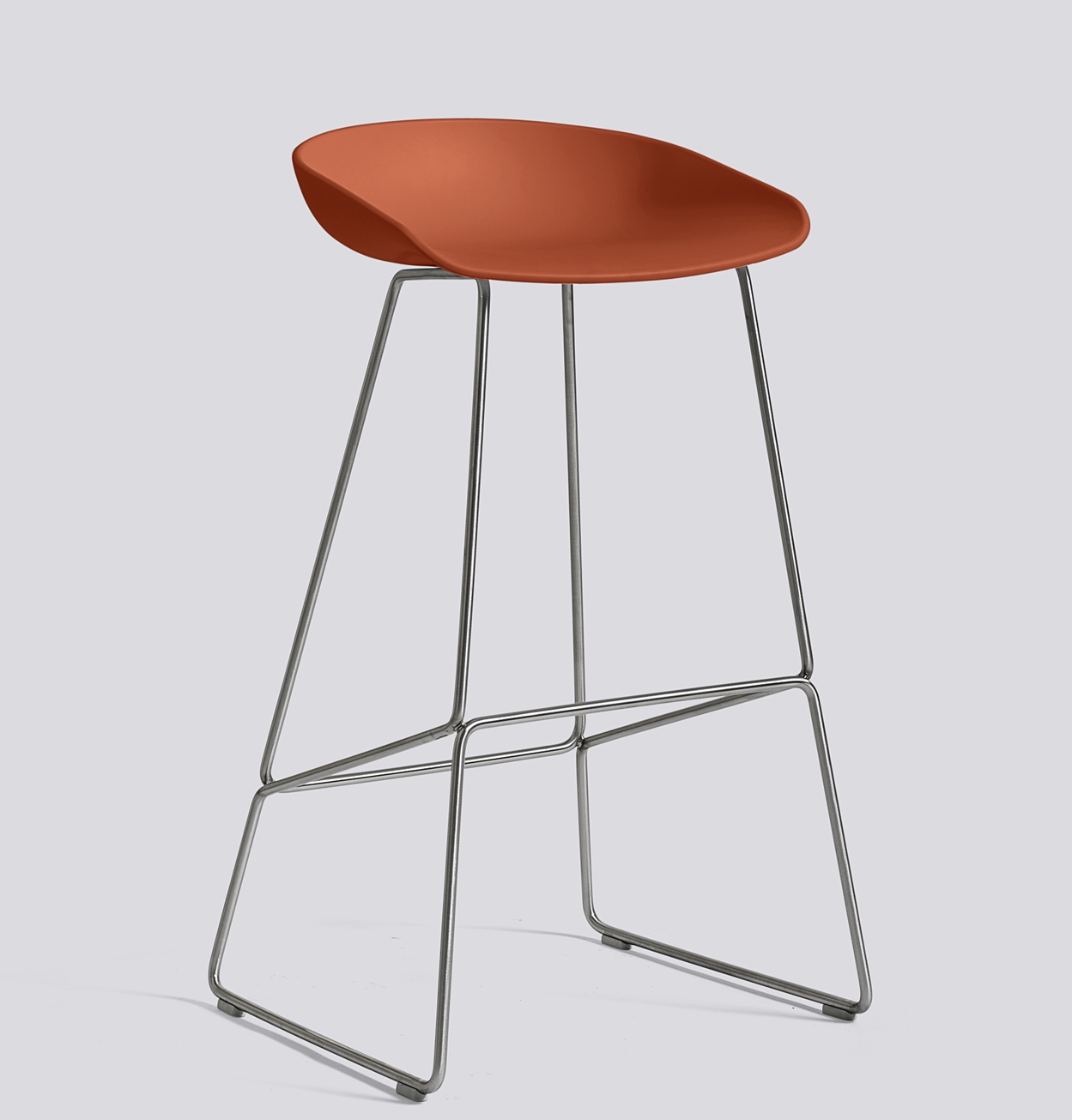 HAY About a Stool 38 Edelstahl orange