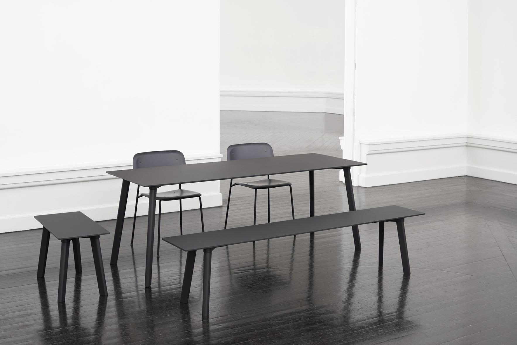 HAY Tisch CPH Deux 210 dusty grey / Eiche 200x75cm