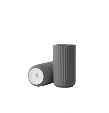 Lyngby Vase dark grey 15cm