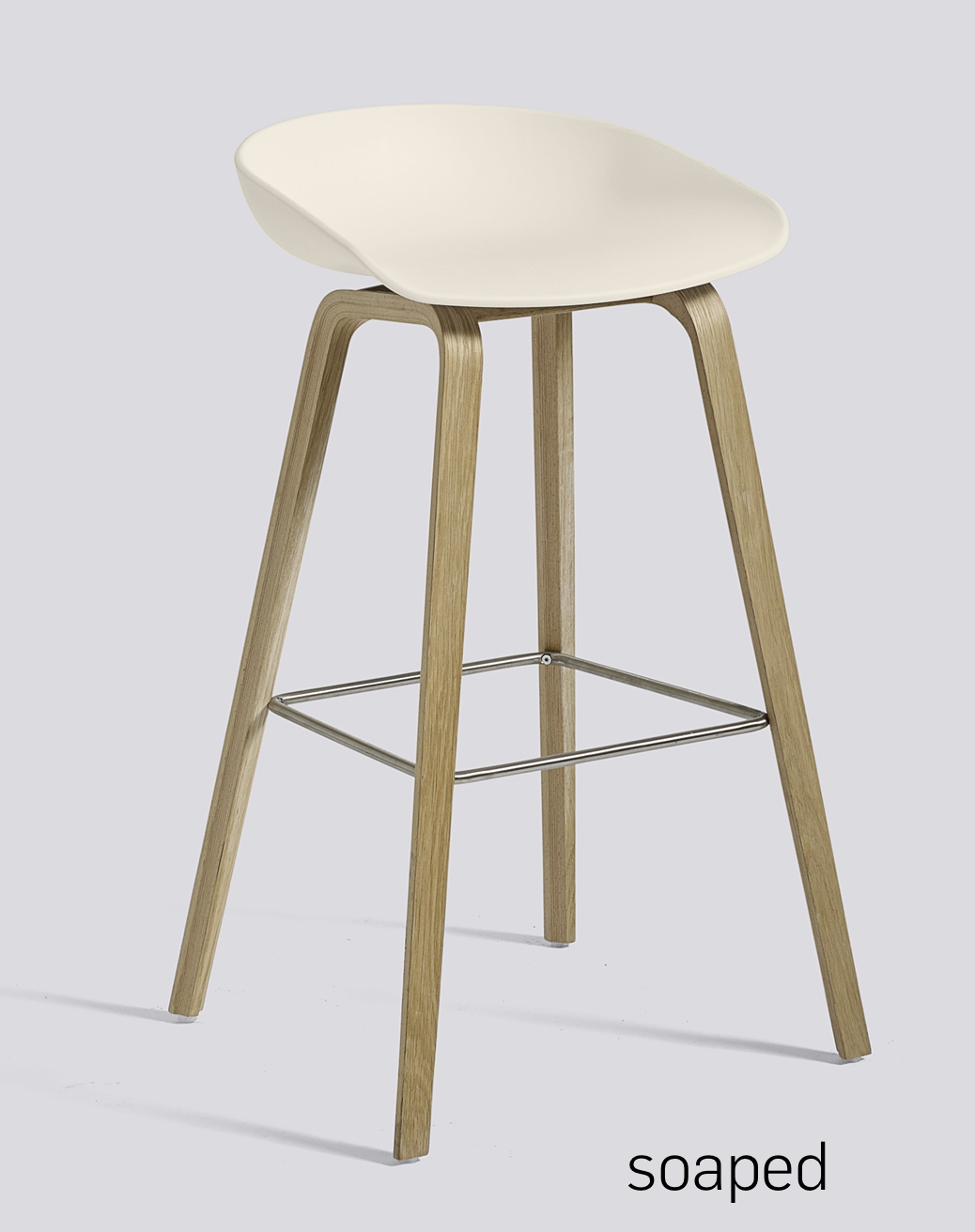 HAY About a Stool 32 Eiche cream white