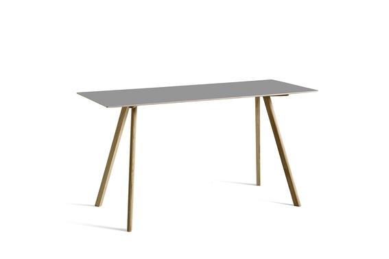 HAY Tisch CPH 30 Linoleum grau / Eiche hoch