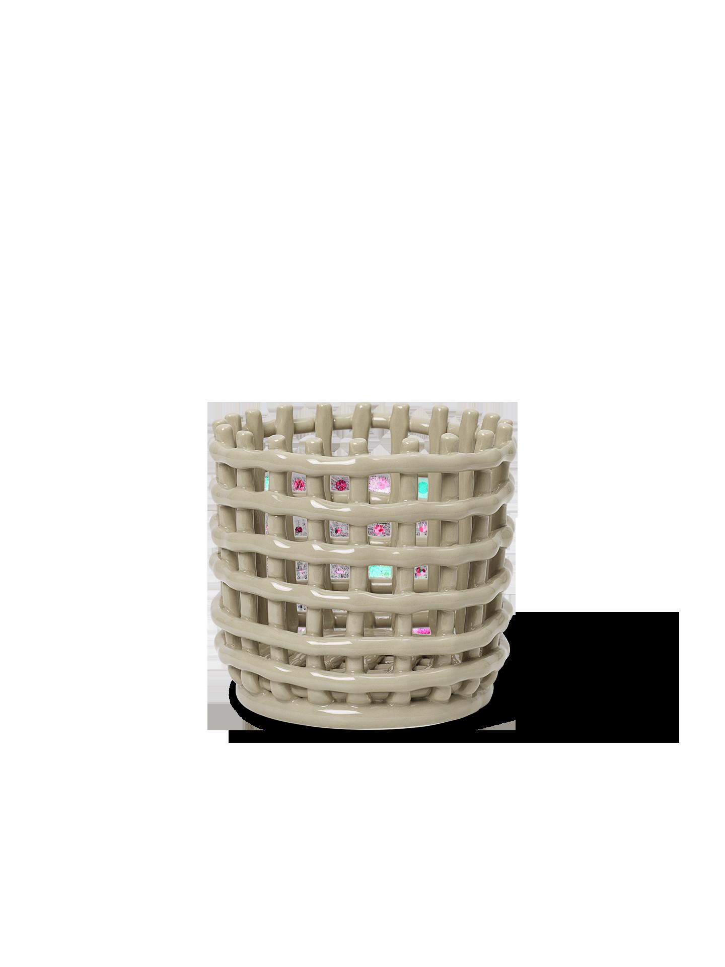ferm living Ceramic Basket Cashmere small