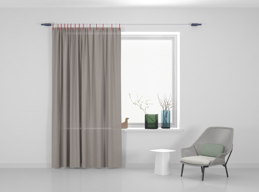 Kvadrat Ready made curtain Stoff Haze 124