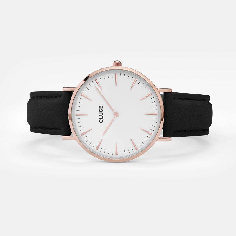 Uhr La Bohème Rosegold Schwarz/ weiß von CLUSE