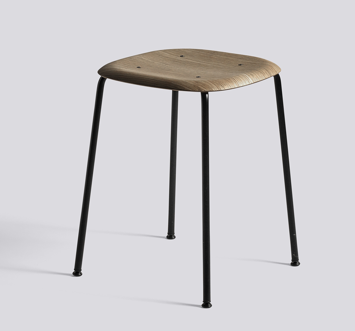 HAY Hocker Soft Edge 70 black smoked oak
