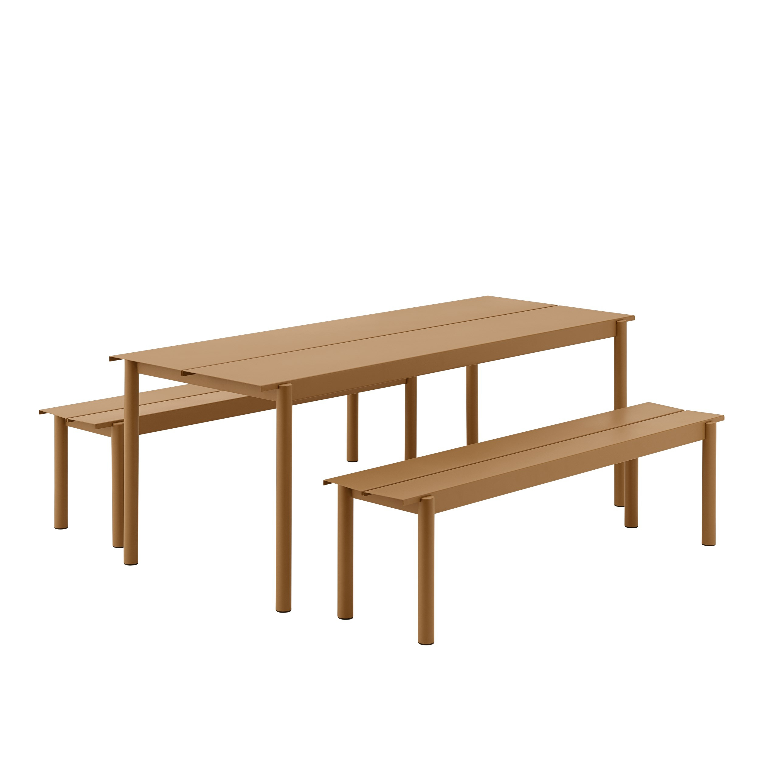 Muuto Linear Table burnt orange 200x75cm