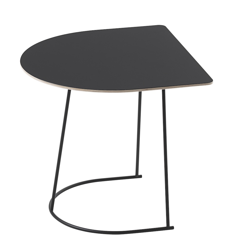 muuto Airy Coffeetable half size schwarz