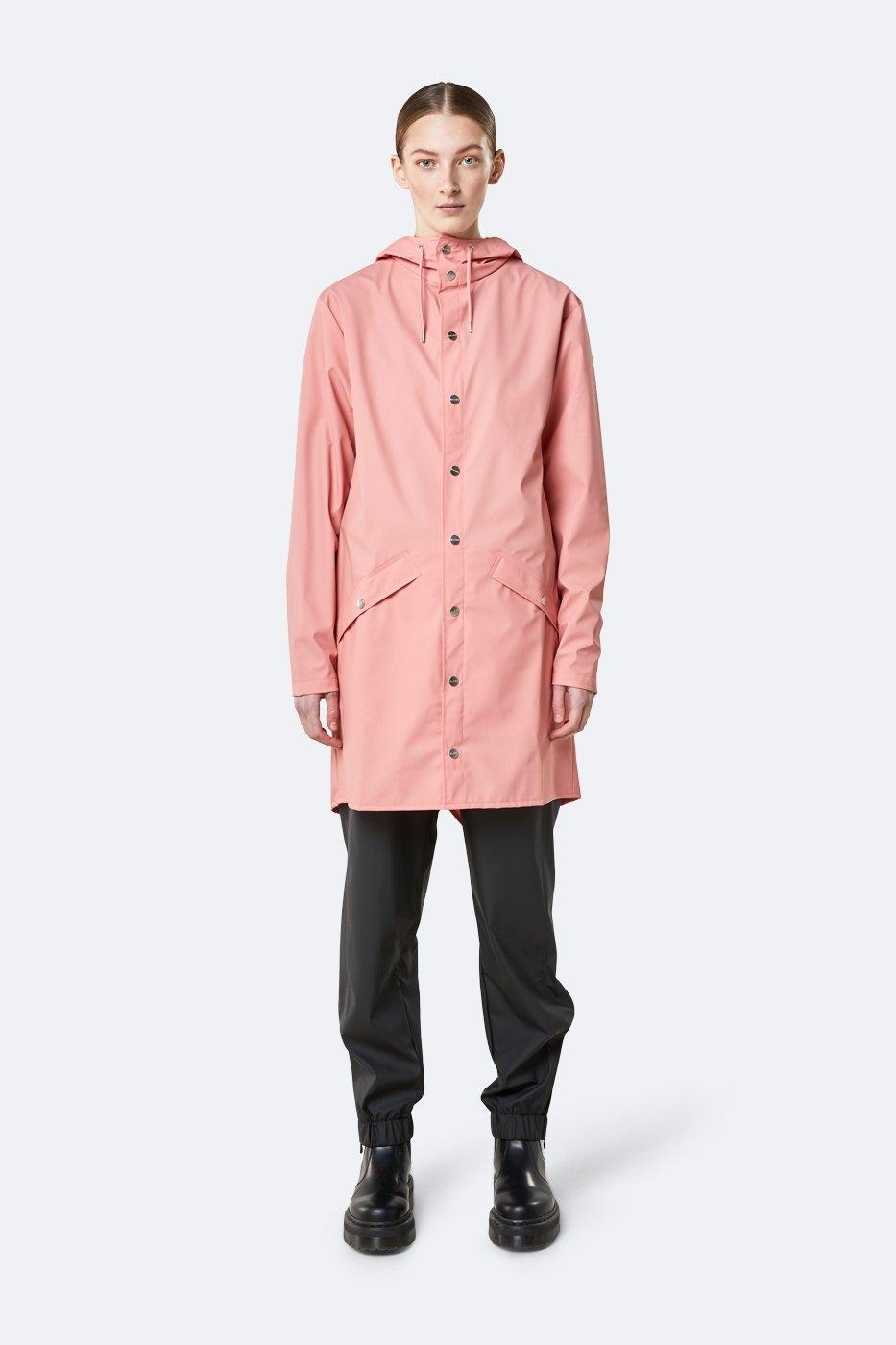 Rains Long Jacket coral unisex XS/S