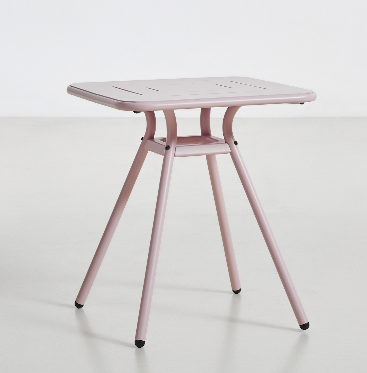 Woud Ray Café Table square rosé