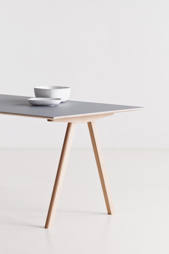 HAY CPH10 Tisch Eiche - Linoleum off whirte