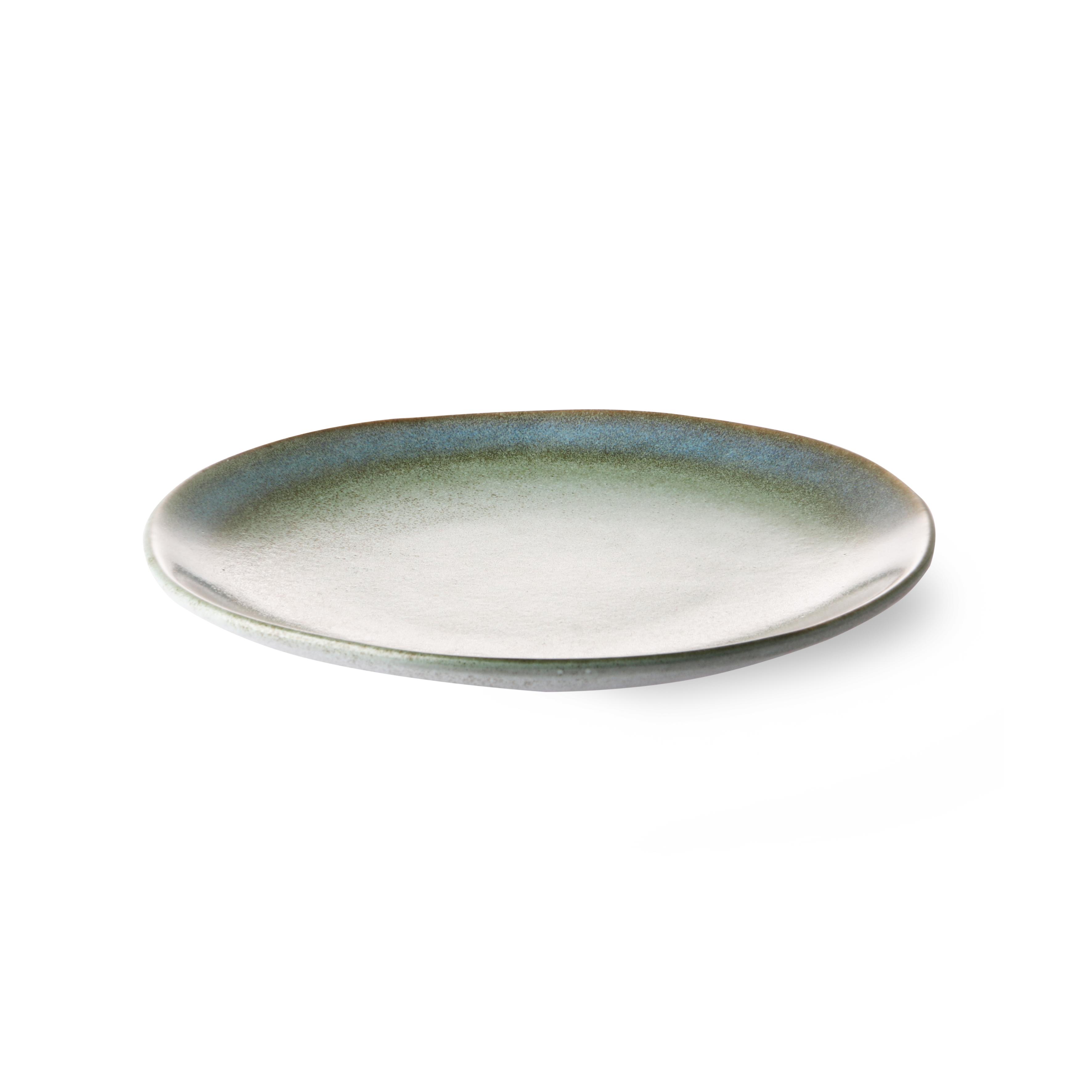 HK Living Ceramic 70's Teller moss
