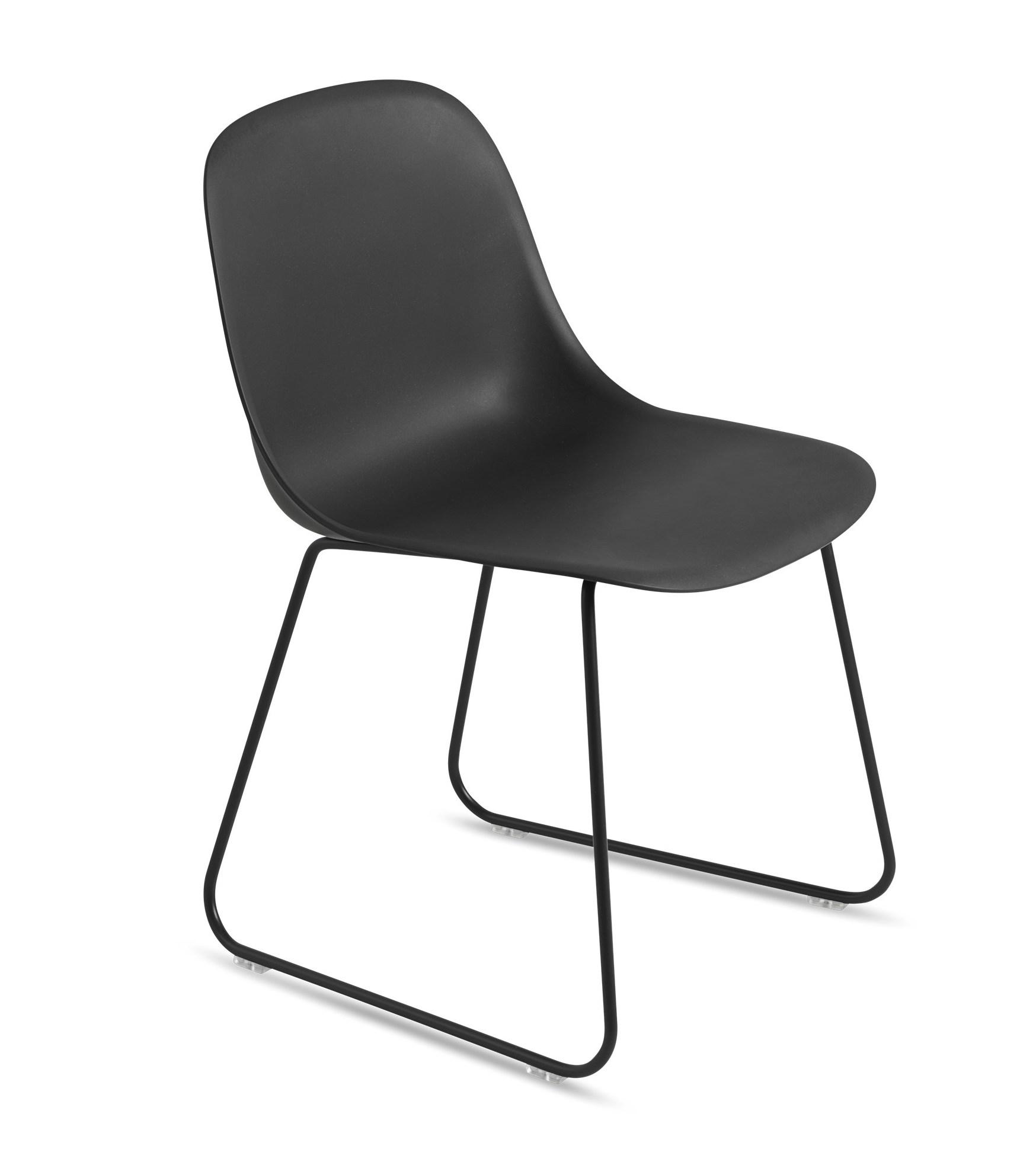 muuto Fiber Side Chair Sled Base black