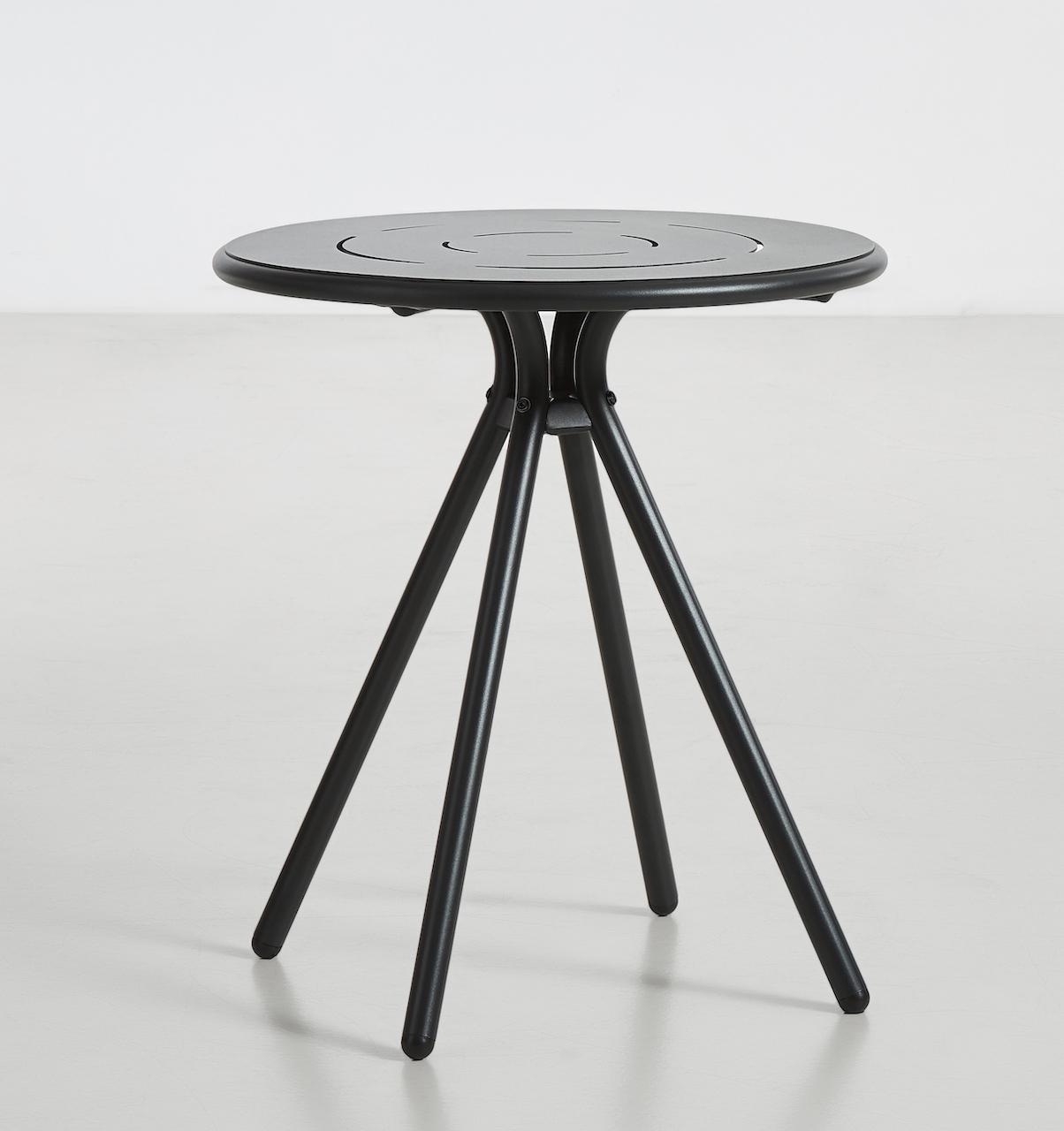 Woud Ray Café Table rund schwarz