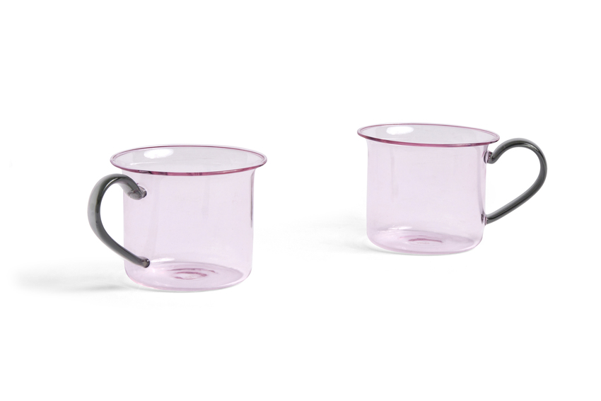 HAY Borosilicate 2Tassen Pink / Grey