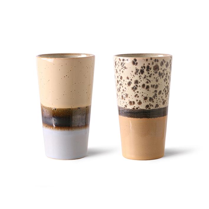 HK Living Ceramic 70´s Latte Becher Set