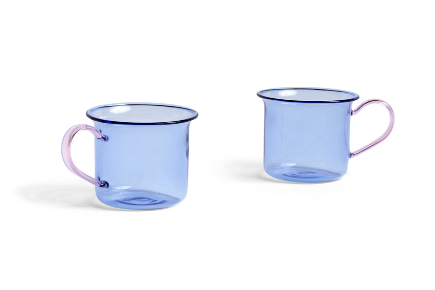 HAY Borosilicate  2Tassen light blue / pink