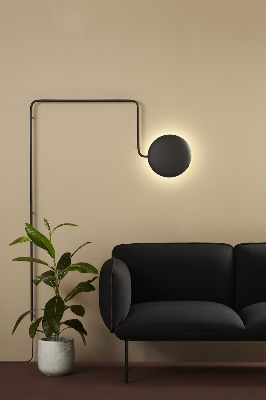 Woud Mercury Wandlampe schwarz