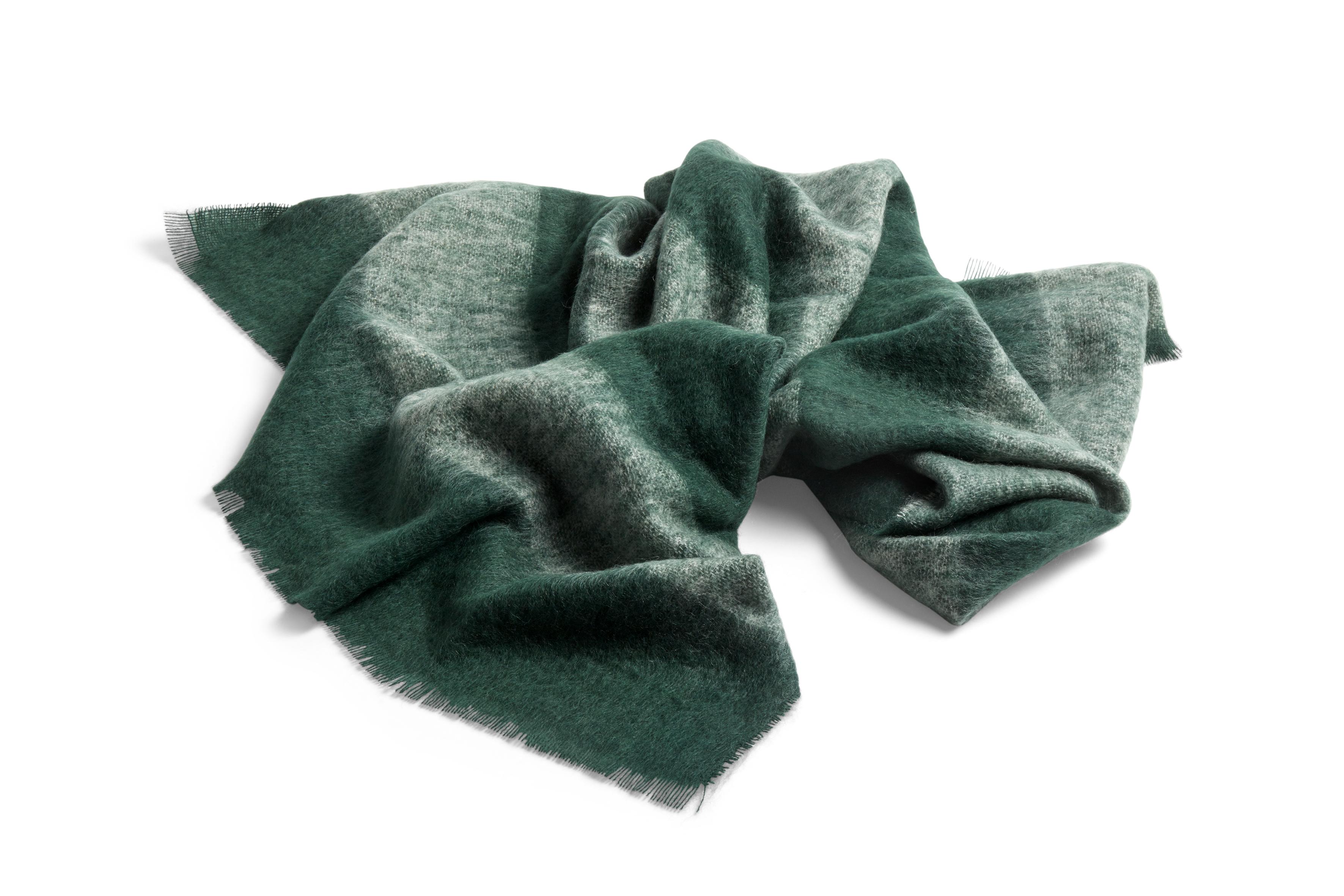 HAY Mohair Decke grün