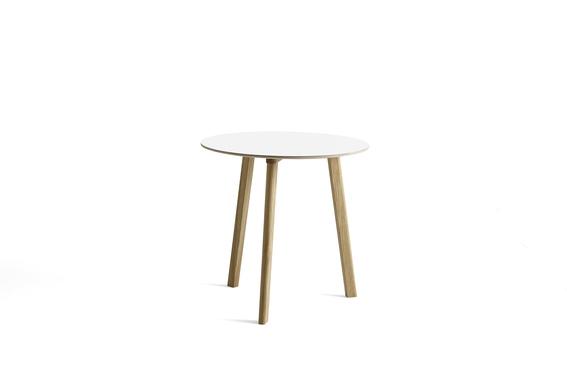 HAY Tisch CPH Deux 220 pearl white / Eiche ø75cm