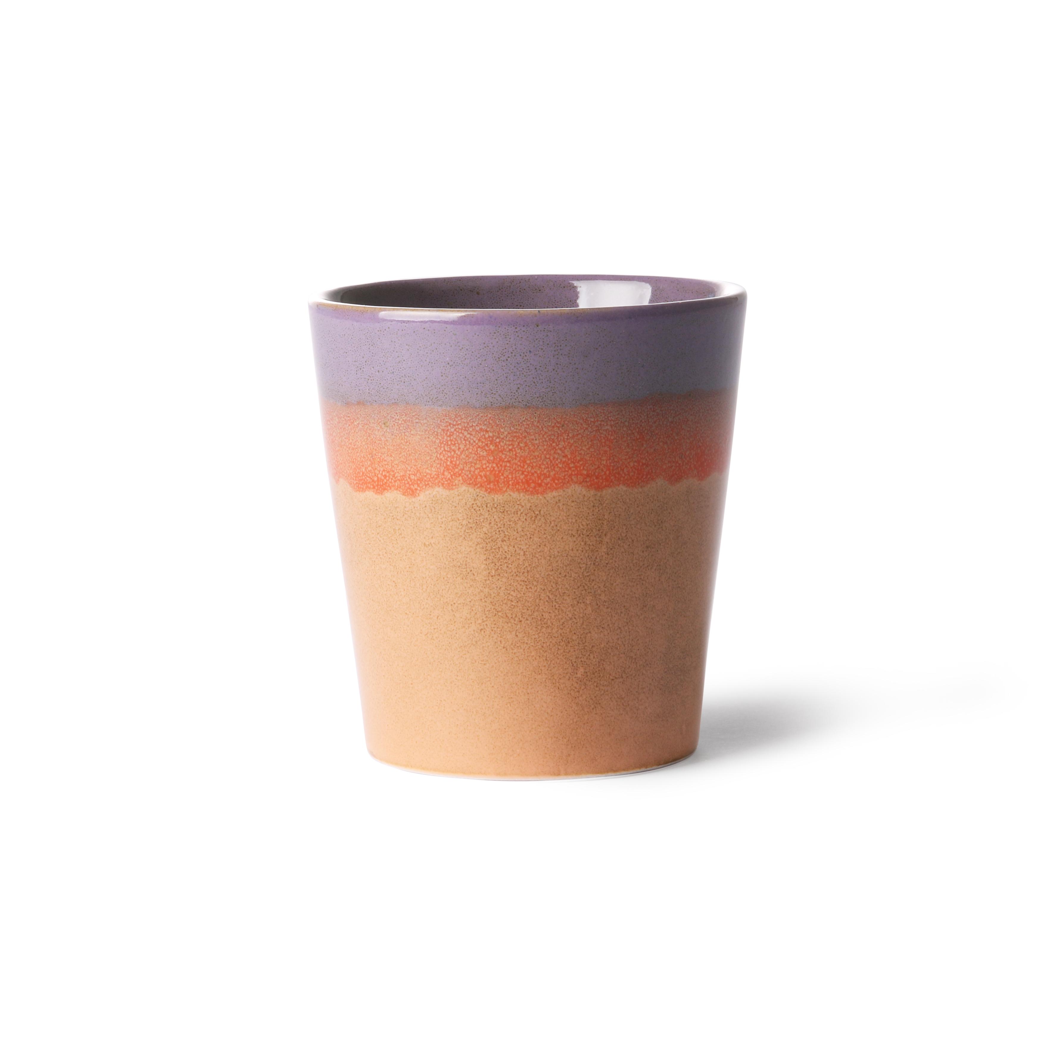 HK Living Ceramic 70's Becher sunset