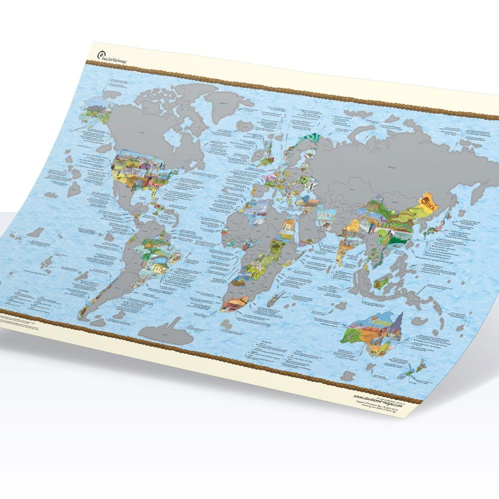 Awesome Maps Travel Karte  Scratch Edition