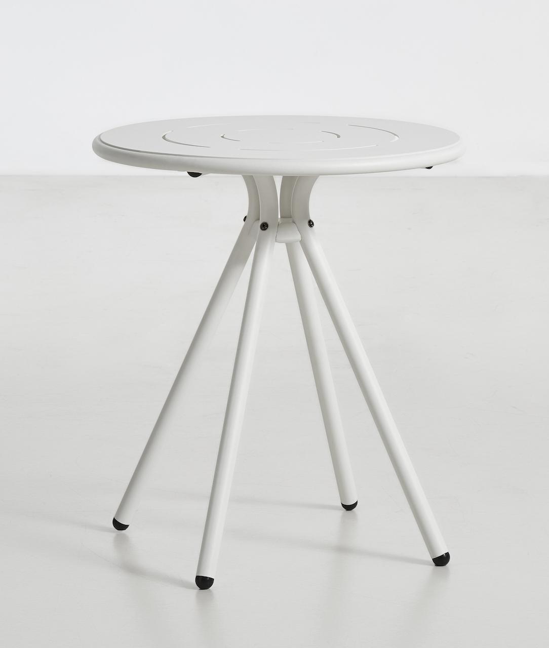 Woud Ray Café Table rund weiß