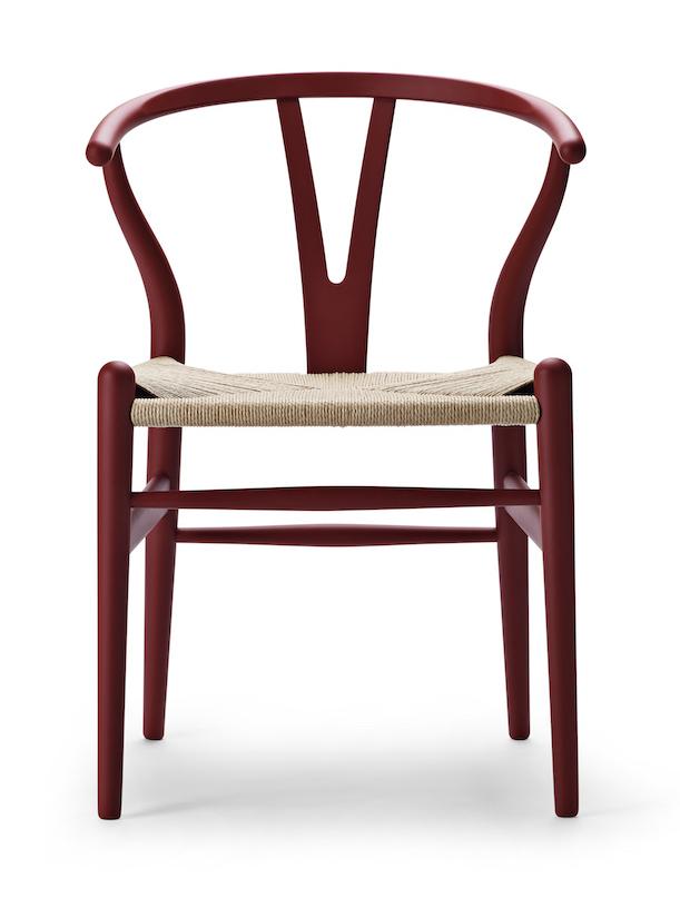 Carl Hansen CH 24 soft red Wishbone Chair