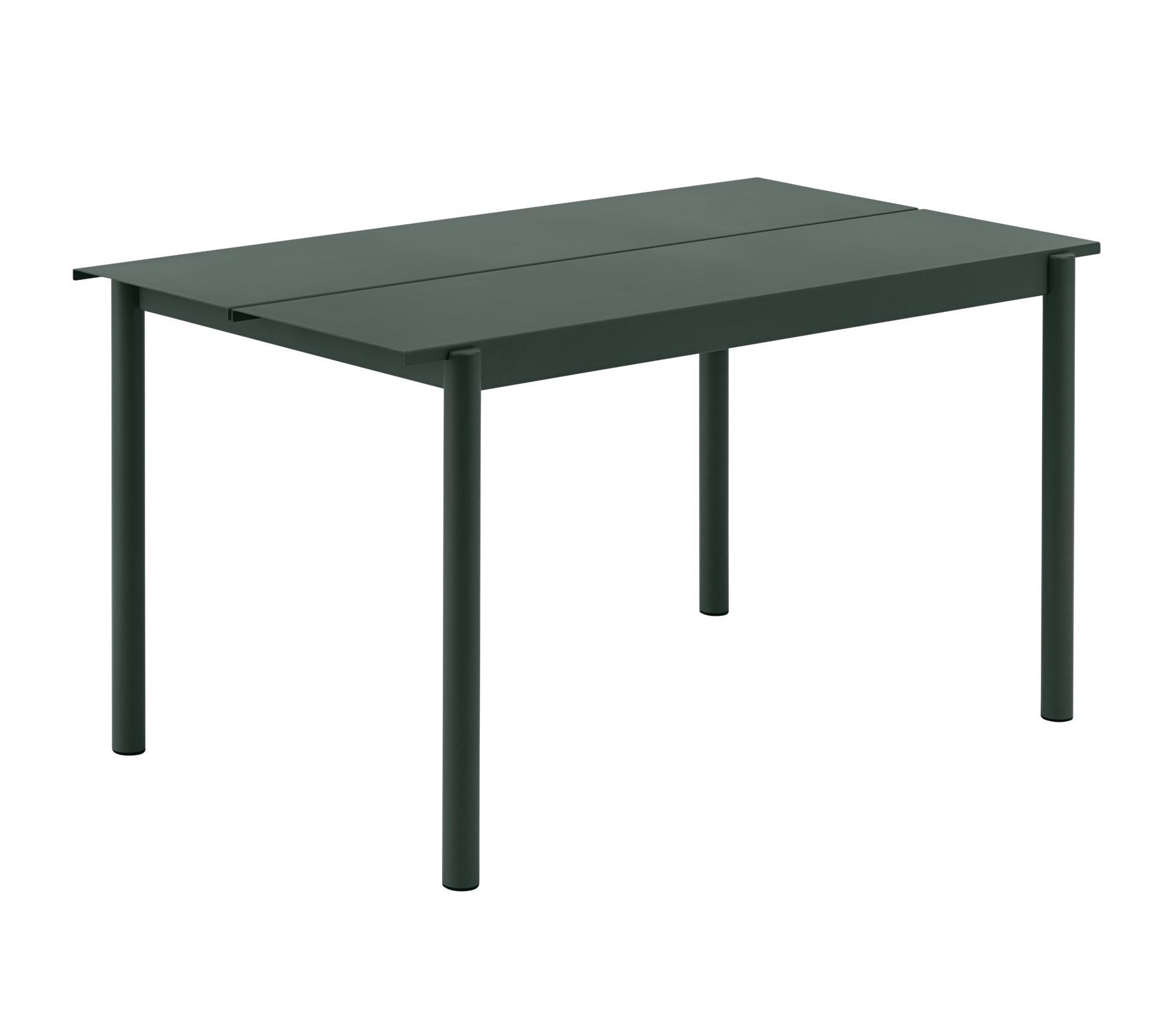 Muuto Linear Table dark green 140x75cm