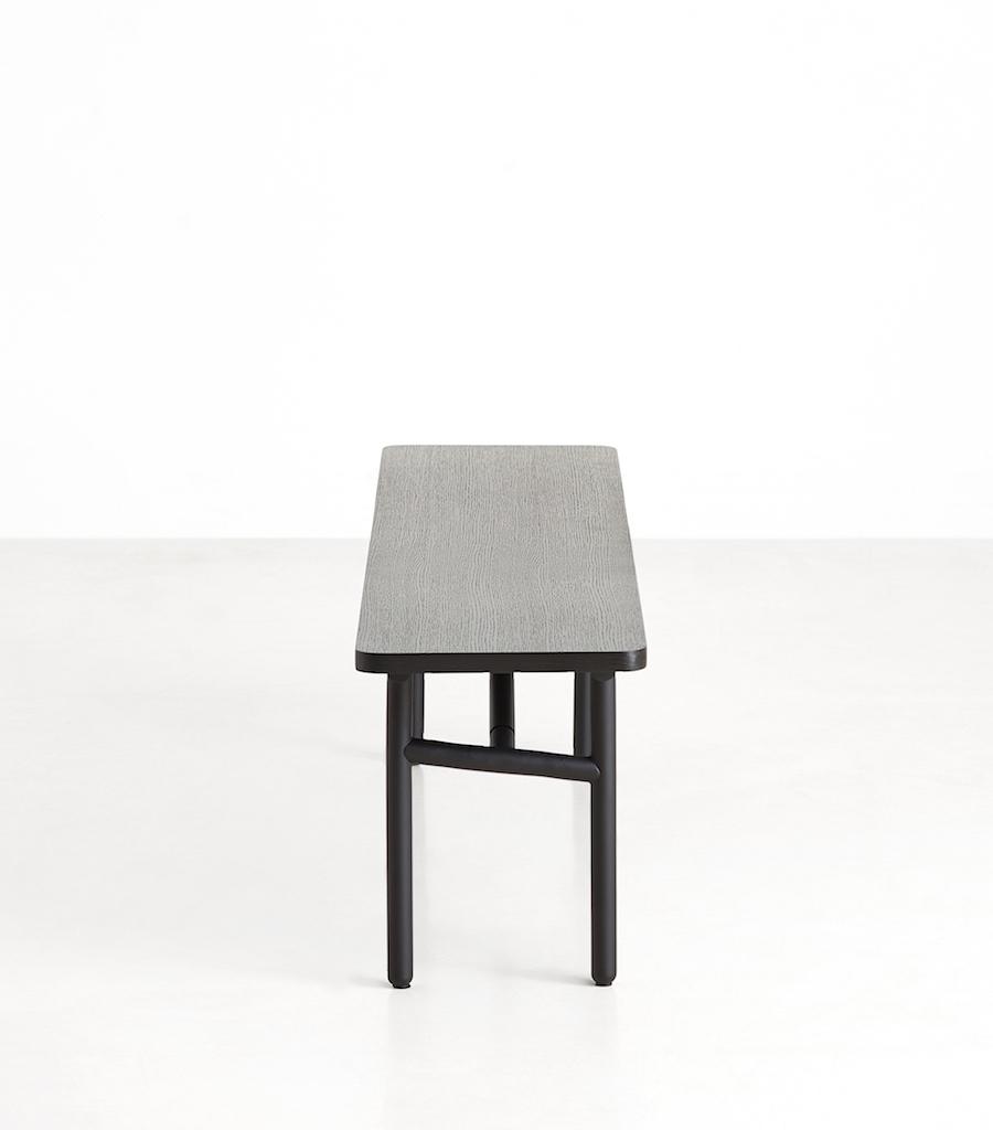 Woud Dieagonal Sitzbank schwarz