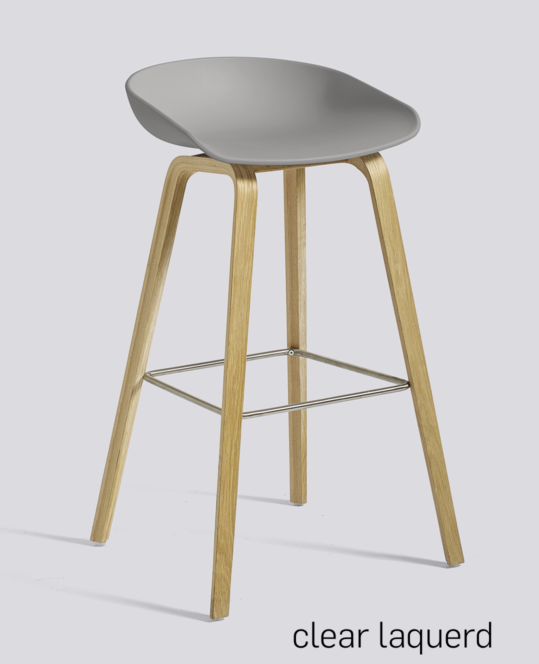 HAY About a Stool 32 Eiche concrete grey