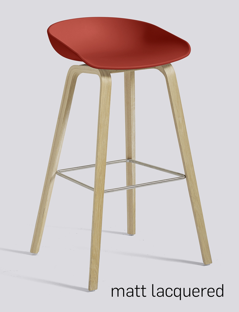 HAY About a Stool 32 Eiche warm red