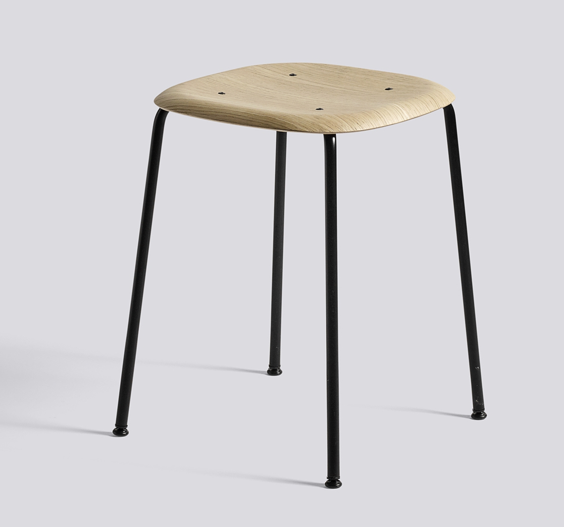 HAY Hocker Soft Edge 70 black matt oak