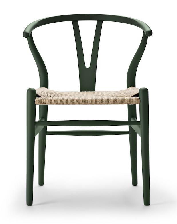 Carl Hansen CH 24 soft green Wishbone Chair