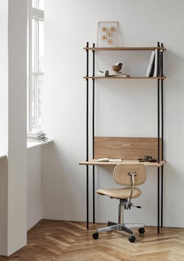 Moebe Shelving System - Desk Eiche
