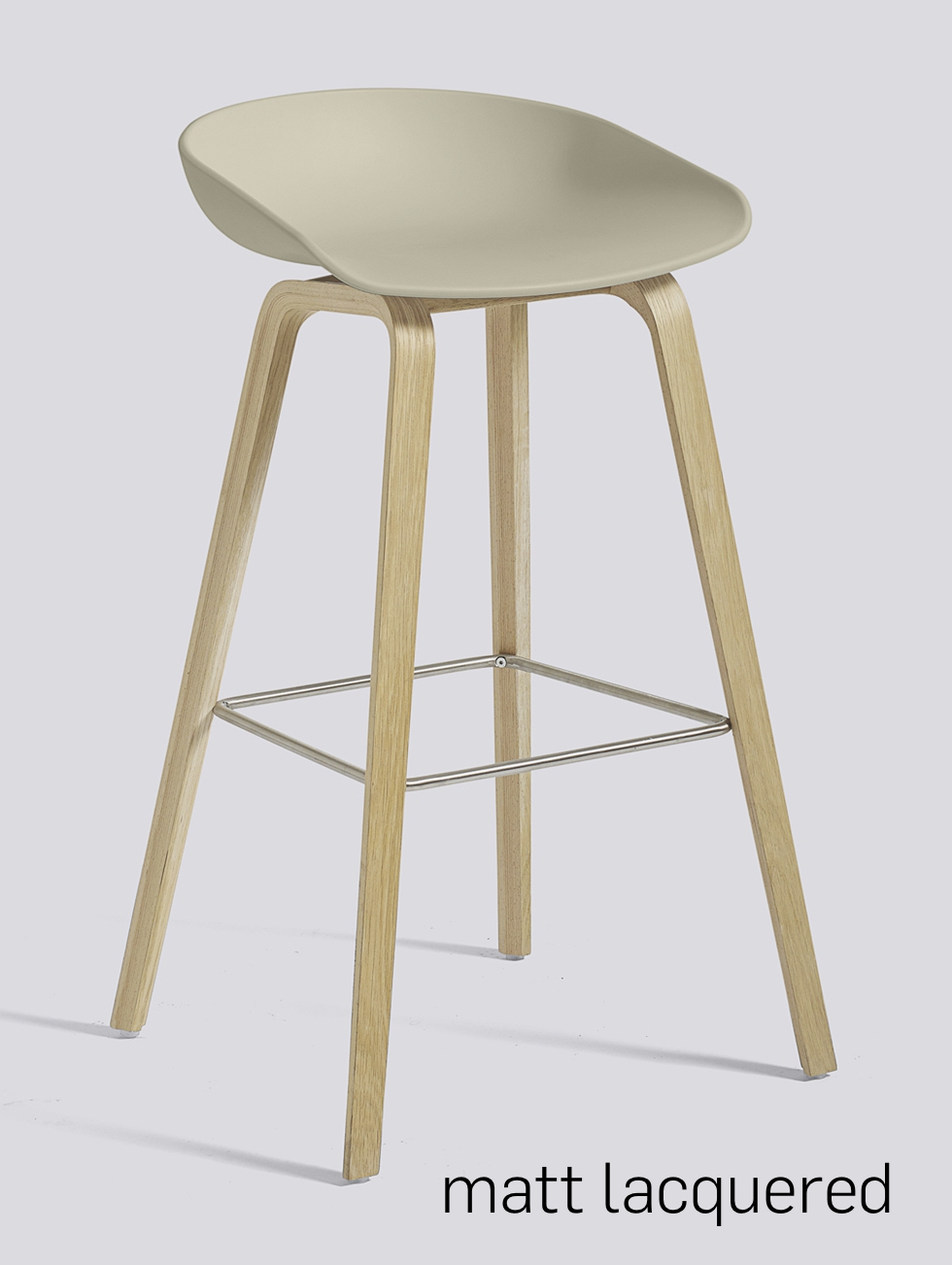 HAY About a Stool 32 Eiche pastel green