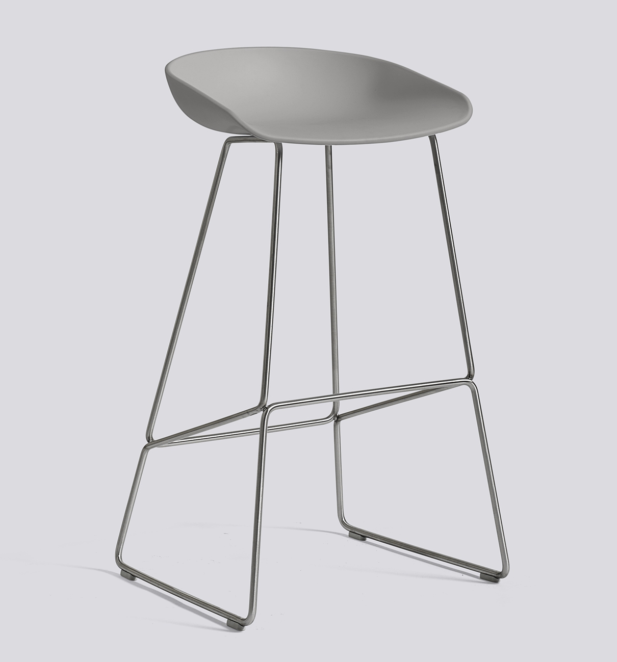 HAY About a Stool 38 Edelstahl concrete grey