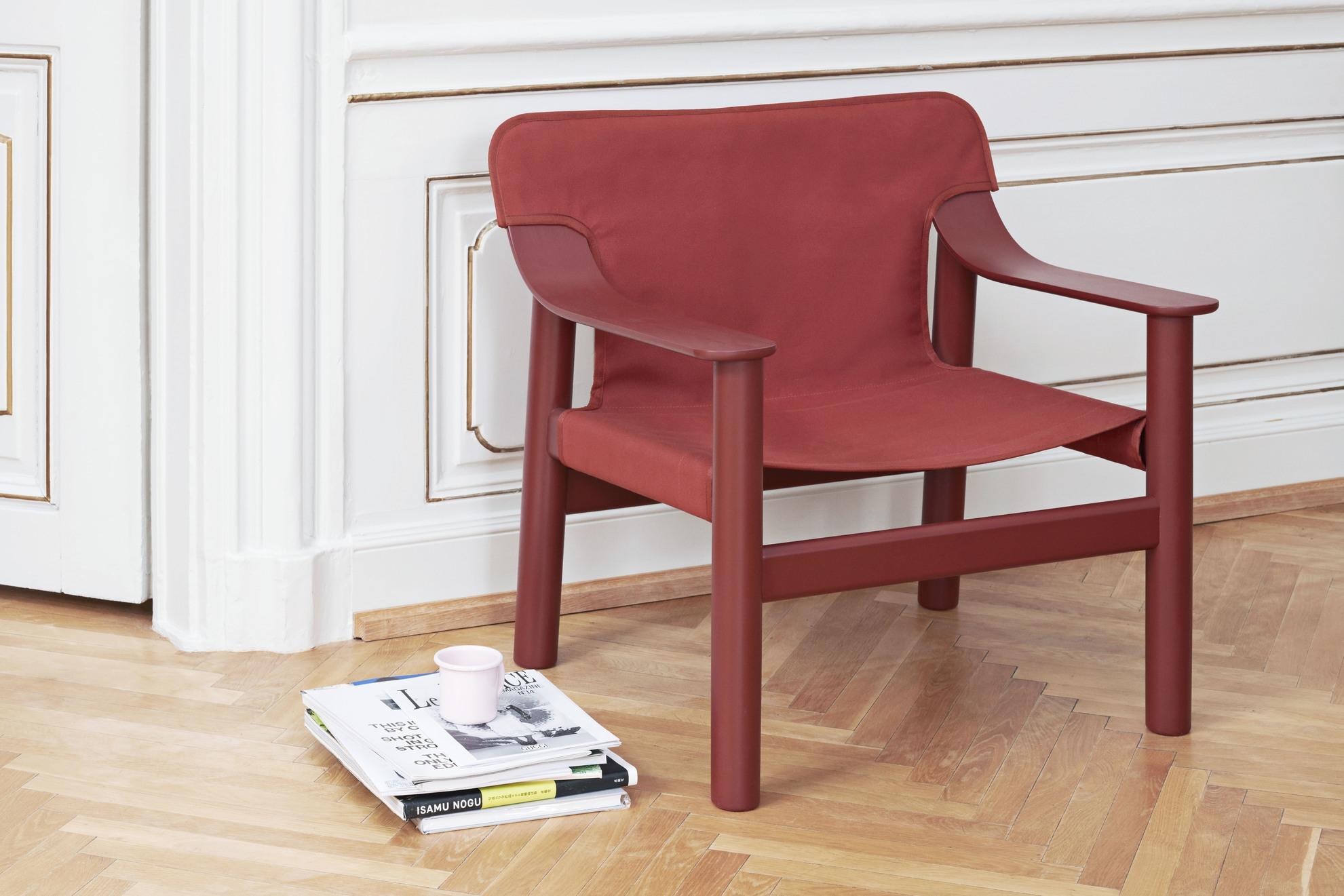 HAY Loungesessel Bernard Braun- Rot
