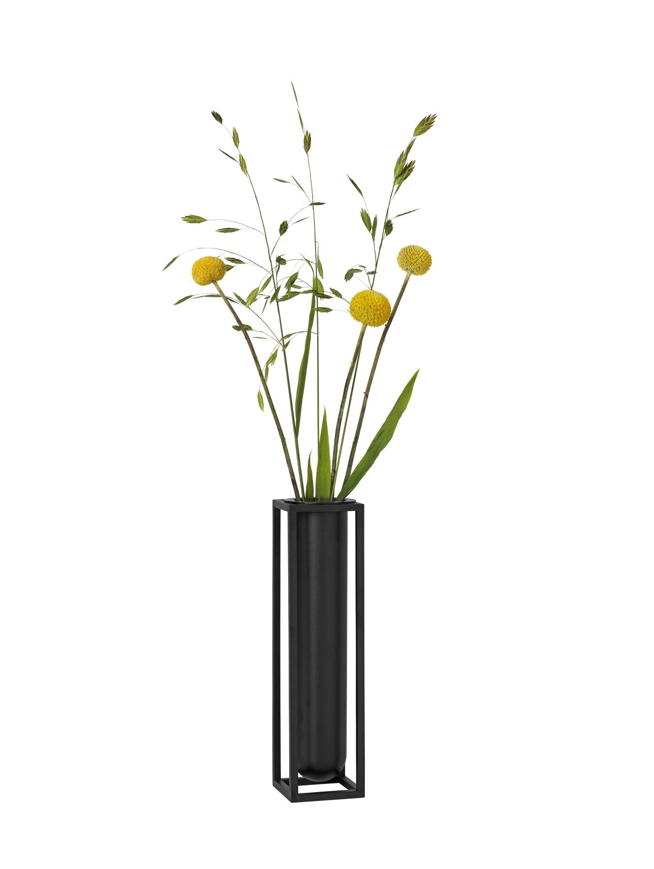 by Lassen Kubus Vase Flora schwarz