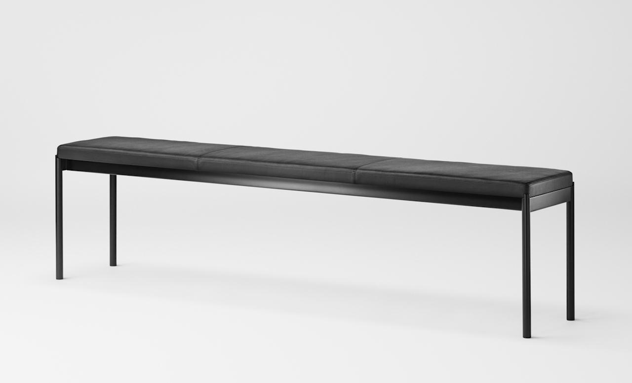 Million Cpoenhagen Mies Bench schwarz Leder