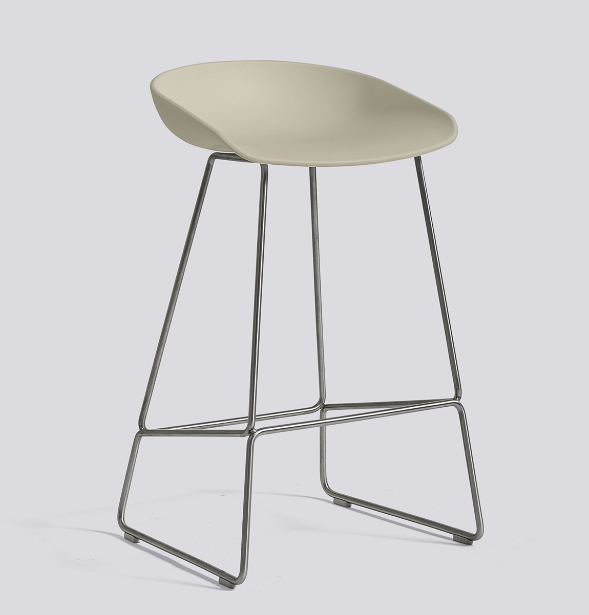 HAY About a Stool 38 Edelstahl pastel green