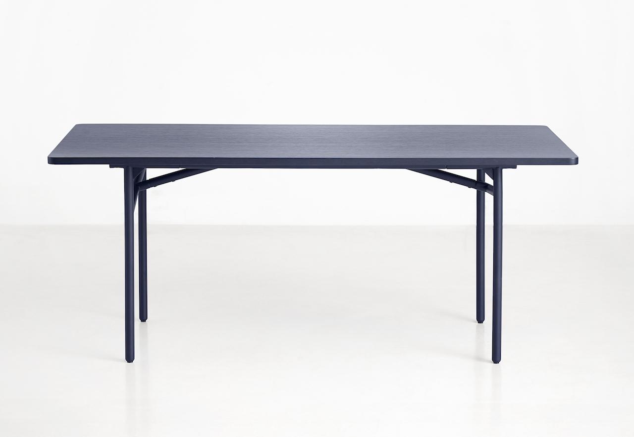 Woud Tisch Diagonal blau