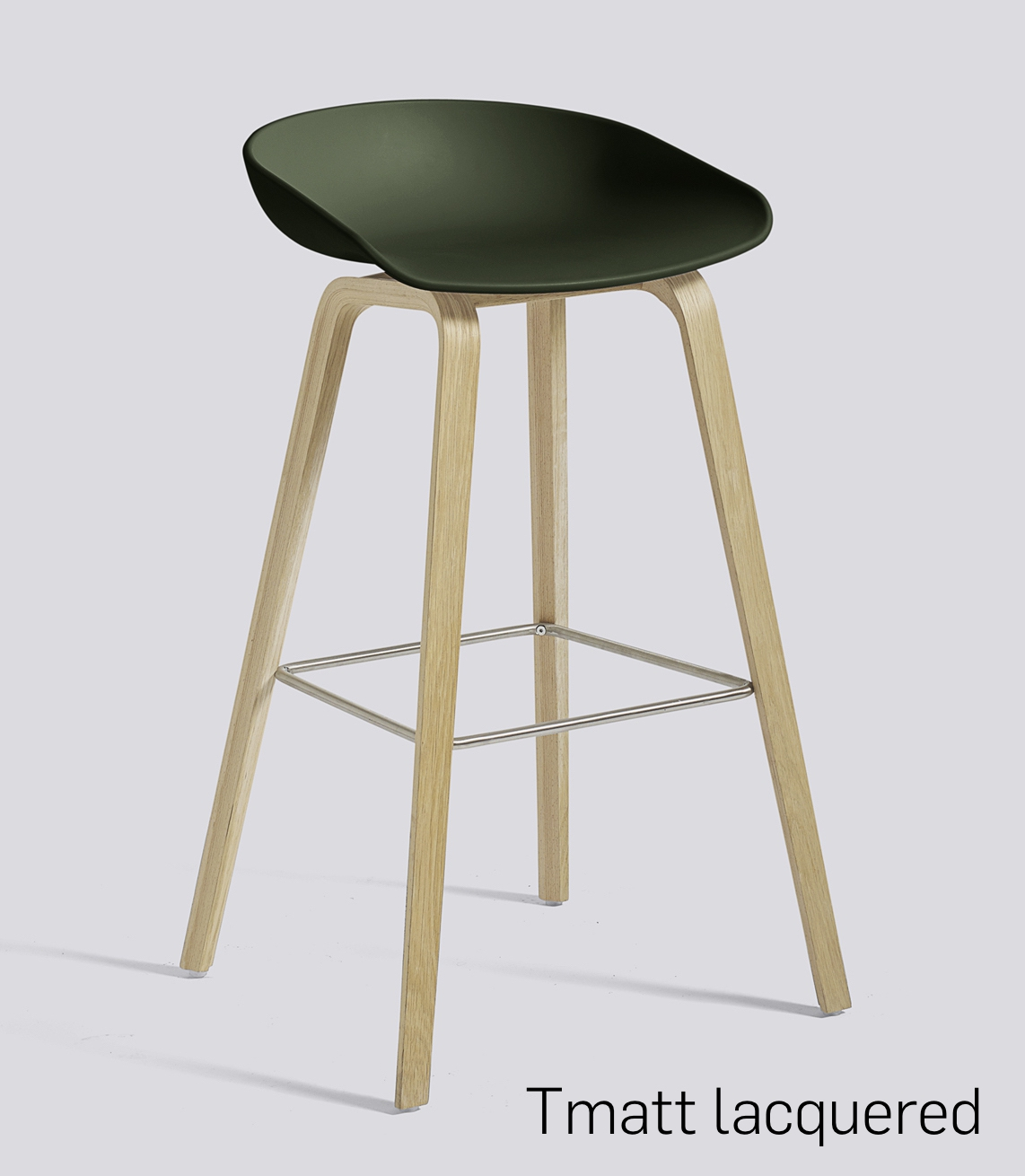 HAY About a Stool 32 Eiche green