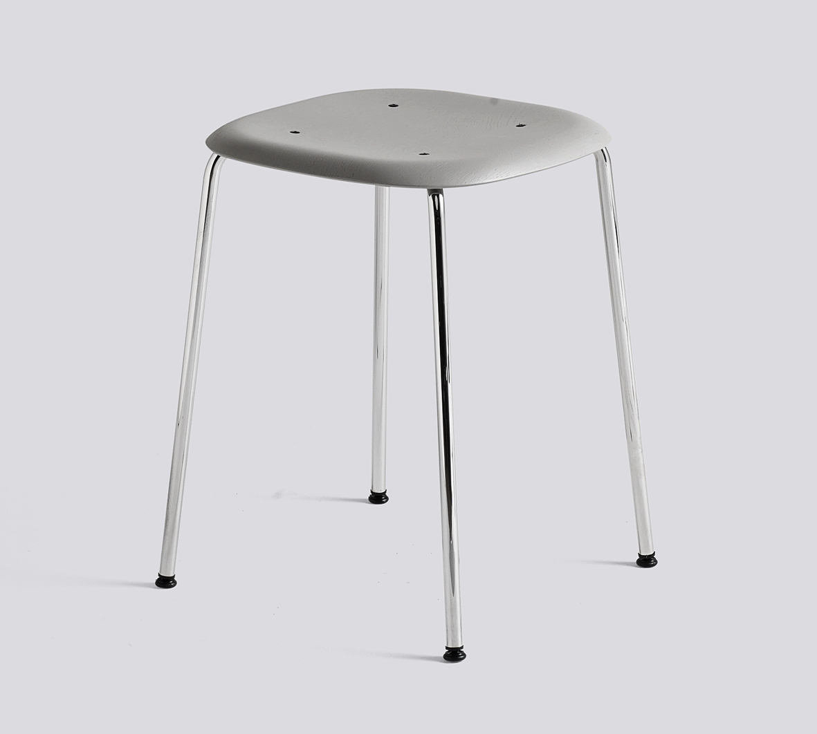 HAY Hocker Soft Edge 70 chrom-grey